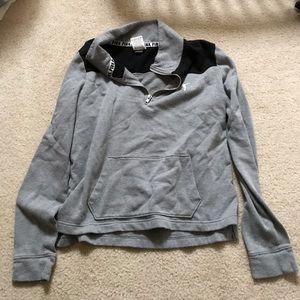 Grey PINK half zip sweater